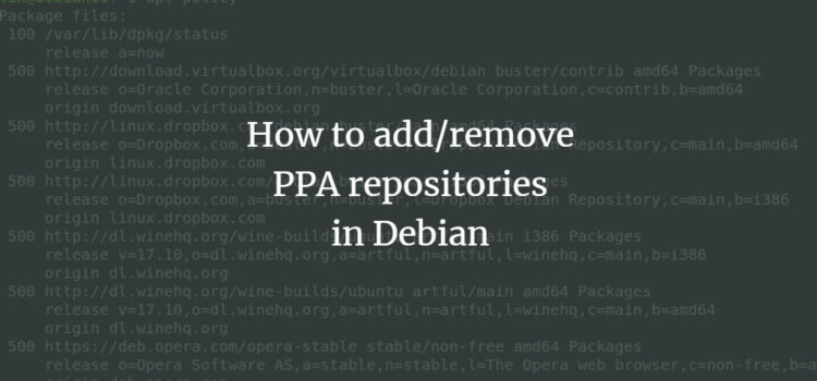 How to add/remove PPA repositories in Debian