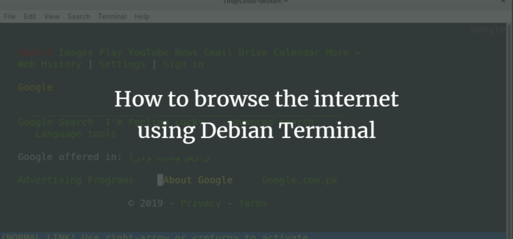 How to browse the internet using Debian Terminal