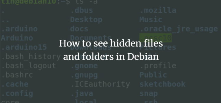 Debian Hidden Files