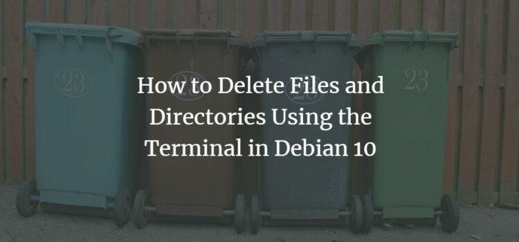 Delete Files on Debian