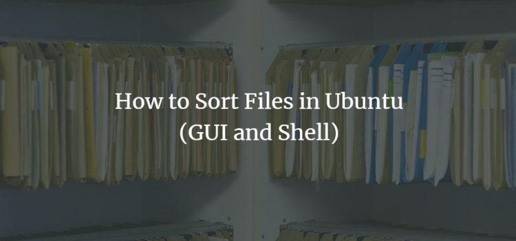 Ubuntu File Sorting