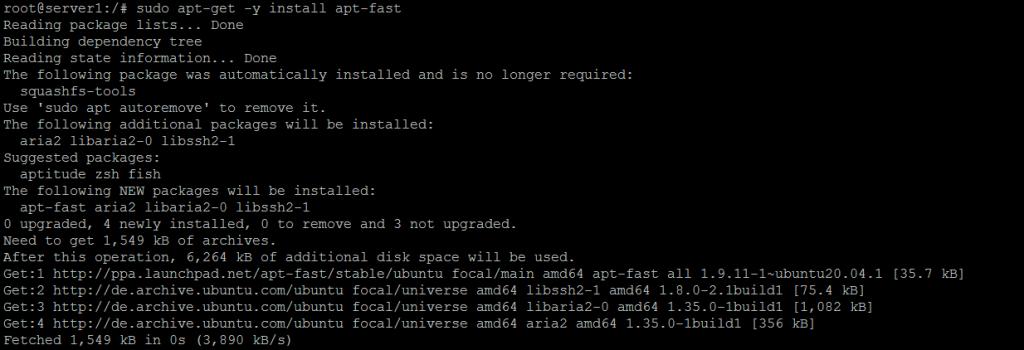 Installing apt-fast