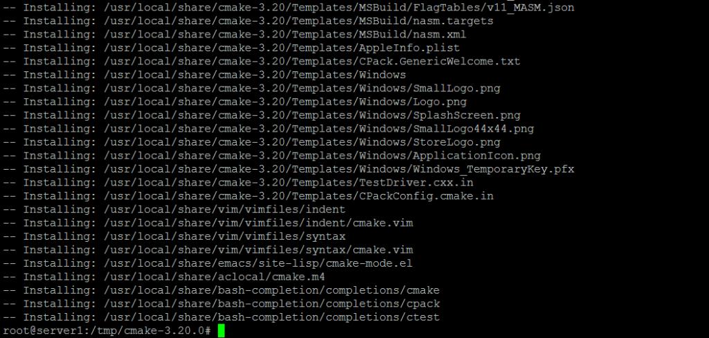 Make install of CMake