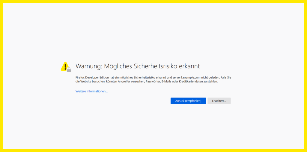 Accept self-signed SSL certificate warning