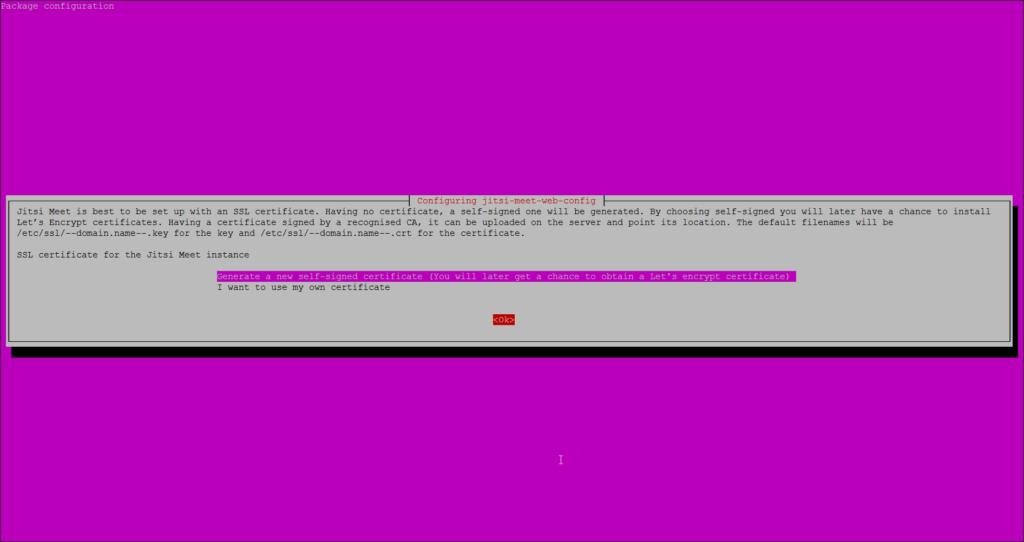 Create SSL certificate