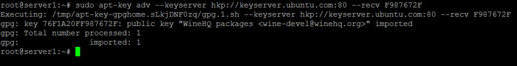 Import WineHQ Key