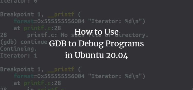 Linux program debugger GDB