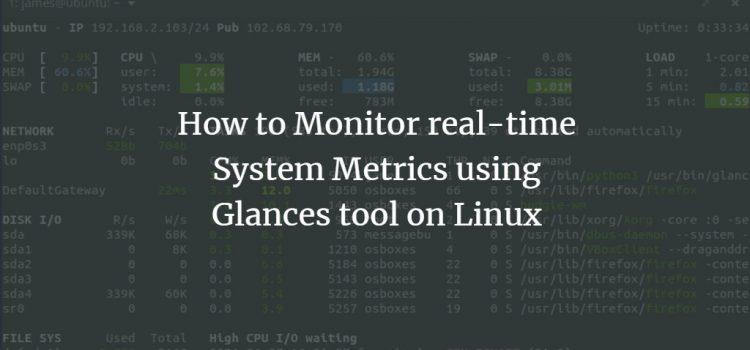 Glances Monitoring Tool
