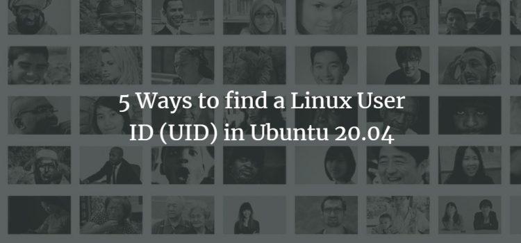 Find UID