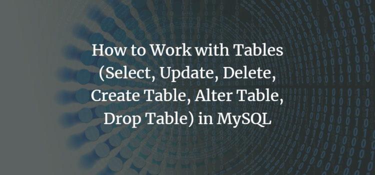 Database Tables in MySQL