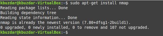 Install NMap Ubuntu Package