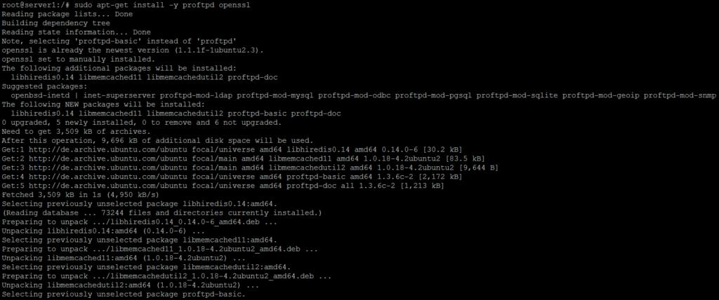 ProFTPD Installation