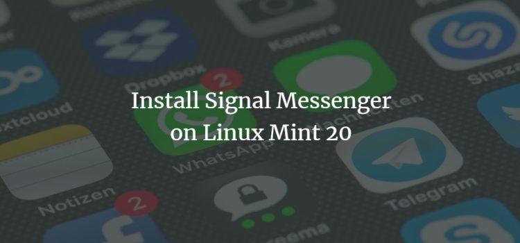 Signal Messenger on Linux