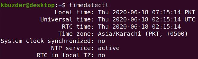 timedatectl