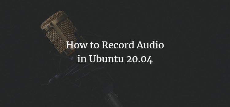 Ubuntu Audio Recorder