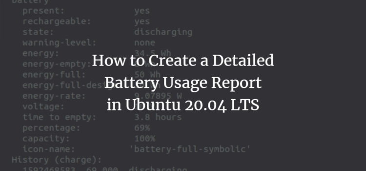 Ubuntu Notebook Battery Usage