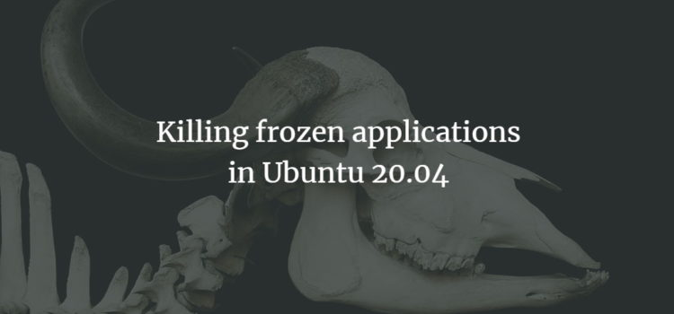 Killing frozen applications in Ubuntu 20.04