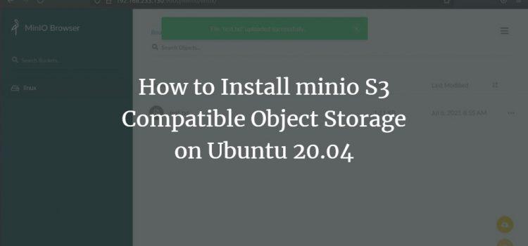 Ubuntu minio Object Storage Server