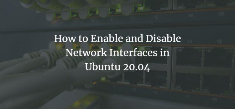 Ubuntu Network Interface management