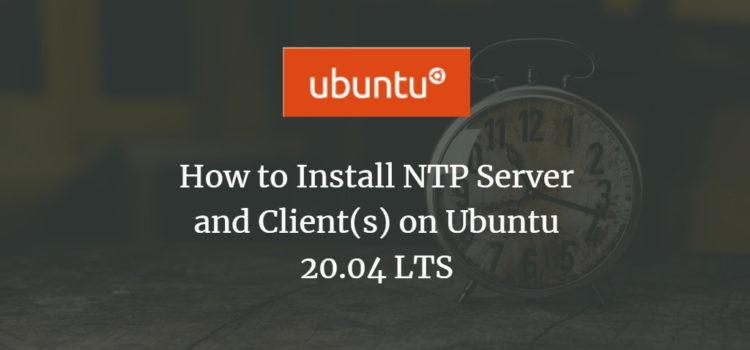 Install Ubuntu NTP Server