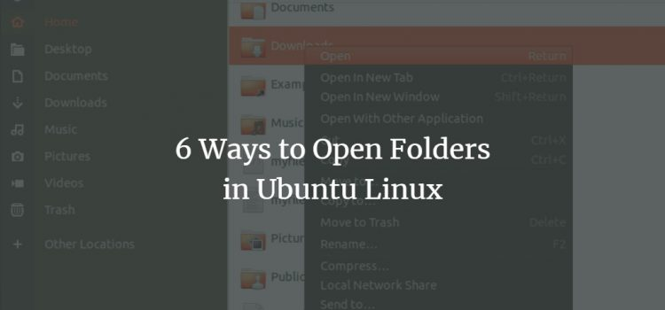 Ubuntu Open Folders