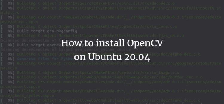Ubuntu OpenCV