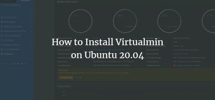 Virtualmin installation on Ubuntu 20.04
