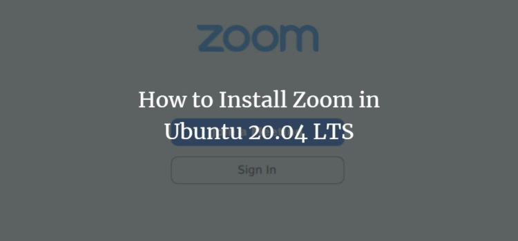 Ubuntu Zoom Video Conference Software
