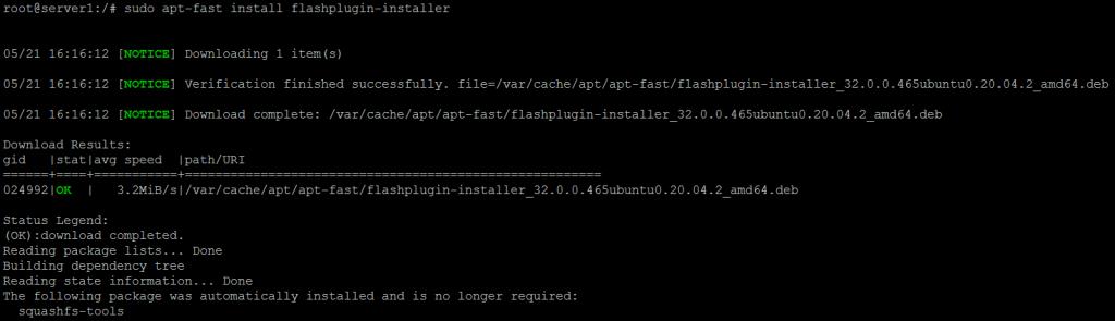 Using apt-fast on Ubuntu