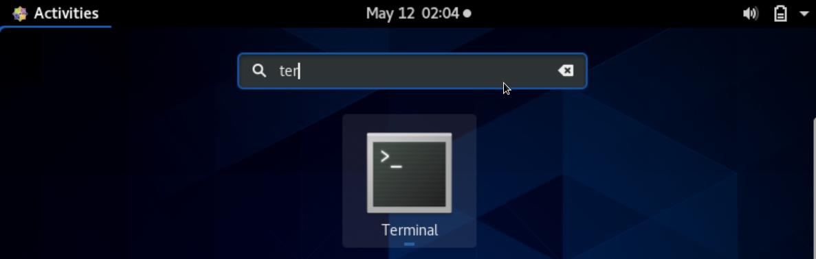 CentOS Terminal (Command line)
