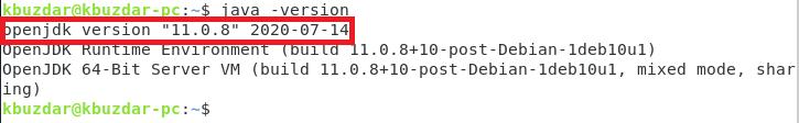 Java 11 installed