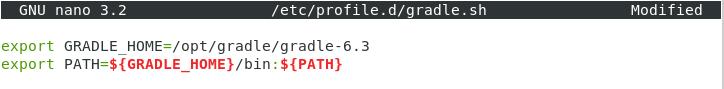 Gradle file content