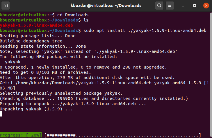 YakYak downloaded successfully
