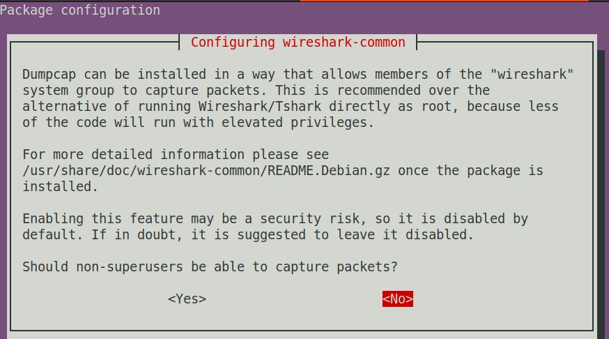 Configure Wireshark