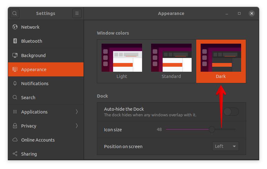 dark Mode in Ubuntu