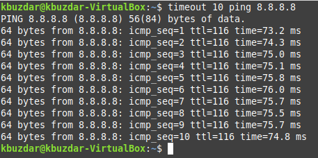 The Linux timeout command