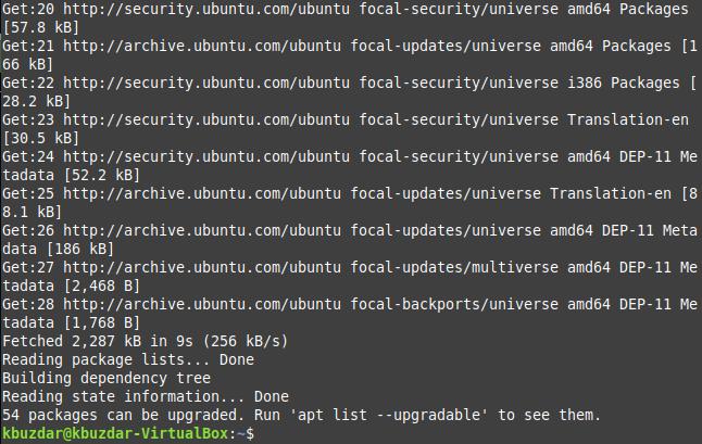 Updates installed
