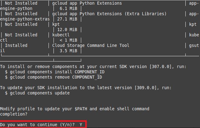 Install SDK components