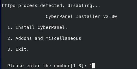 cấu hình Cyber Panel trên CentOS 8