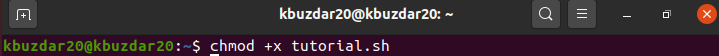 Make the shell script executable