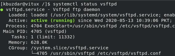 Check FTP service status