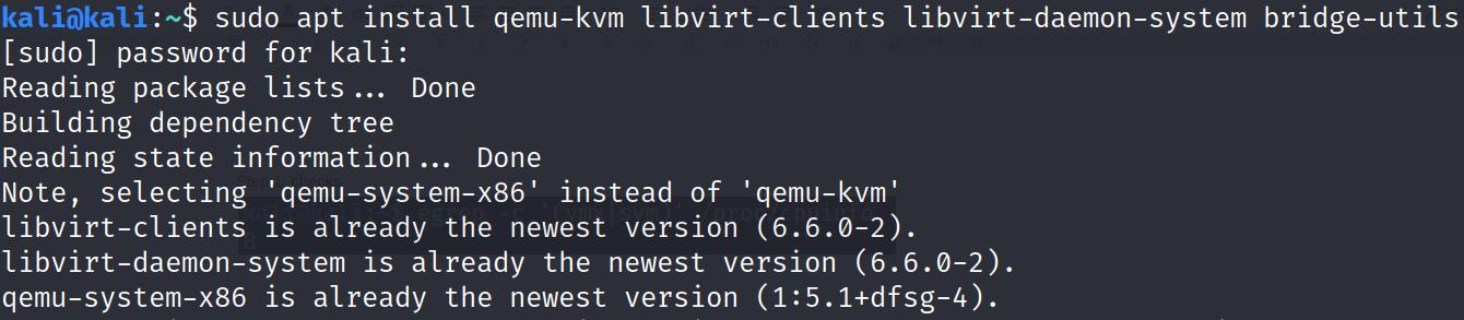 Install KVM