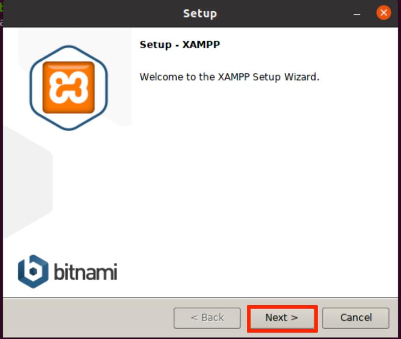 Start XAMPP installer