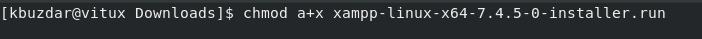 Make XAMPP installer executable
