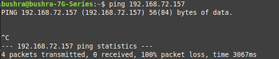 Ping blocked successfully