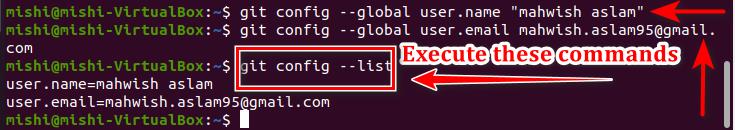 Set GIT email