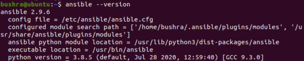 Which ansible version is installed?