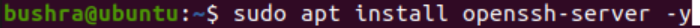 Install OpenSSH server