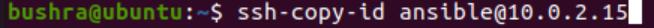 Copy ssh key