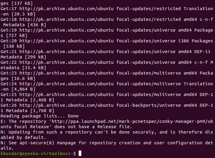 Downloading repo updates